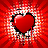 Grunge heart Royalty Free Stock Images