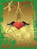 Grunge Heart. Stock Photo
