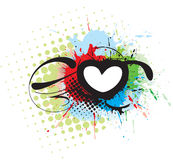 Grunge heart background Stock Images