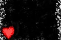 Grunge Heart Background Stock Photos