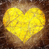 Grunge heart background Stock Image