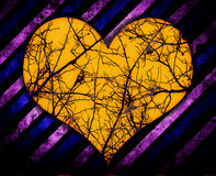 Grunge heart background. With scratches stock illustration