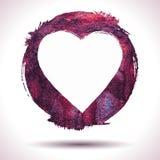 Grunge heart background. Grunge background. Watercolor background. Retro background. Vintage background. Valentine background. Abstract background. Hand drawn Royalty Free Stock Photo