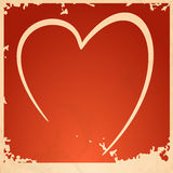 Grunge heart background. Vector illustration. Eps 10 Stock Images