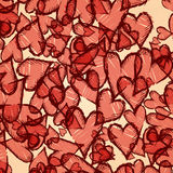 Grunge heart background. Vector illustration. Eps 10 Royalty Free Stock Photos