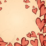 Grunge heart background. Vector illustration. Eps 10 Stock Photos