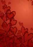 Grunge heart background. Vector illustration. Eps 10 Royalty Free Stock Photography
