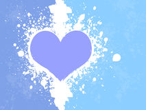 Grunge Heart Background Stock Images
