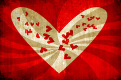 Grunge heart background with sun rays Royalty Free Stock Photography