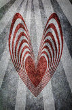 Grunge heart background with sun rays Royalty Free Stock Photo