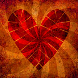 Grunge heart background with sun rays Royalty Free Stock Images