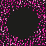 Valentine background with pink glitter hearts. February  Royalty Free Stock Photography