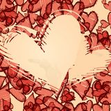 Grunge Heart Background. Vector Illustration. Eps 10 Stock Photography