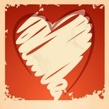Grunge Heart Background. Stock Photography