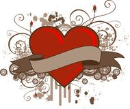 Grunge Heart Banner Royalty Free Stock Photo
