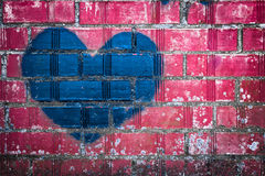 Grunge heart Stock Photo
