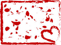 Grunge heart border. Grunge heart with a border Royalty Free Stock Image
