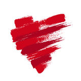 Grunge Heart from Brush Strokes Royalty Free Stock Images