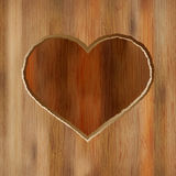 Grunge heart carved into wooden plank.  + EPS8 Stock Photo