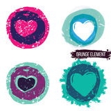 Grunge heart collection Royalty Free Stock Photo