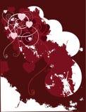 Grunge heart design. Red grunge valentine background/frame Stock Photo