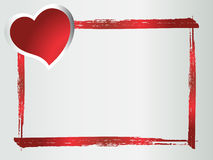Grunge heart frame Royalty Free Stock Images