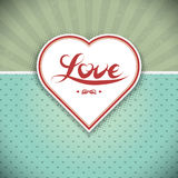 Grunge heart frame. Gift card. Royalty Free Stock Photo