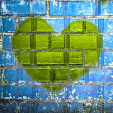 Grunge heart Stock Images