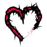 Grunge heart icon Royalty Free Stock Image