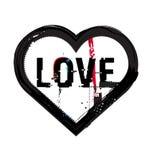 Grunge heart icon royalty free illustration