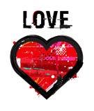 Grunge heart icon Stock Photo
