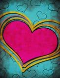 Grunge heart illustration Stock Photos