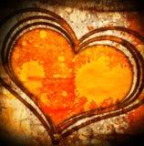 Grunge heart illustration Royalty Free Stock Image