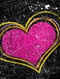 Grunge heart illustration Royalty Free Stock Photos
