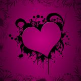 Grunge heart illustration Royalty Free Stock Photo