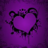 Grunge heart illustration Royalty Free Stock Photography