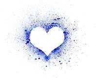 Grunge heart, ink splatter Royalty Free Stock Image