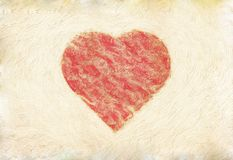 Grunge heart on paper Royalty Free Stock Image