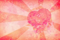 Grunge heart on paper Stock Photography