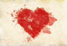 Grunge heart on paper Stock Photo