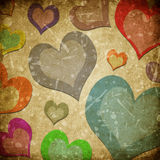 Grunge heart paper background Royalty Free Stock Image