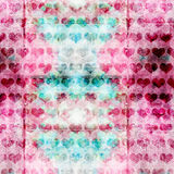 Grunge Heart Pattern Stock Images