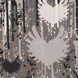 Grunge heart shapes on gray background Royalty Free Stock Image