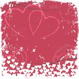 Grunge Heart Stamped Background Royalty Free Stock Image
