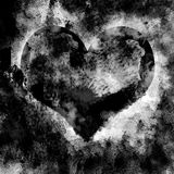 Grunge Heart Texture. A digitally created love heart shape that has been grunged up royalty free stock photos