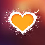 Grunge heart vector background Stock Image
