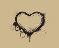 Grunge hearts Stock Photo