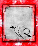 Grunge Hearts Royalty Free Stock Images