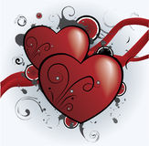 Grunge hearts Stock Photos