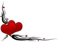 Grunge hearts Royalty Free Stock Image